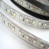 LED szalag, 3528, 60 SMD/m, vízálló, szilikon védő